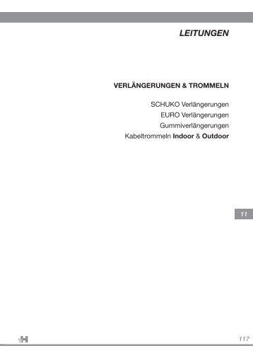 117 LEITUNGEN VERLÄNGERUNGEN ... - Adolf von Hagen
