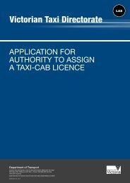Application for authority to assign a taxi-cab licence - Victorian Taxi ...