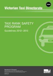 Taxi Rank Safety Program guidelines (PDF, 145.5 KB, 8 pp.)