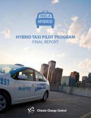 Hybrid Taxi PiloT Program Final RepoRt - Climate Change Central