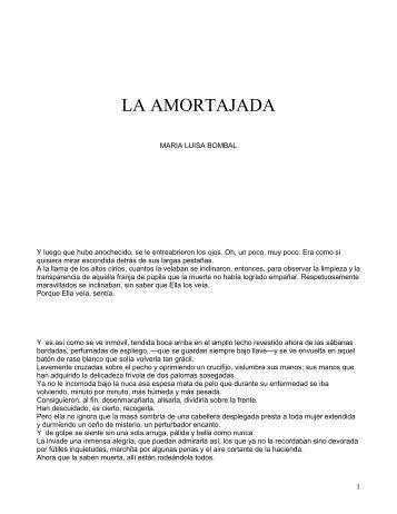 La amortajada - María Luisa Bombal - Colegio Providencia Linares
