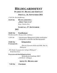 HILDEGARDISFEST PFARREI ST. HILDEGARD EIBINGEN ...