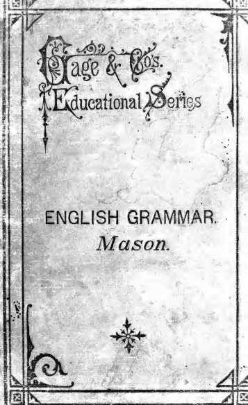 English grammar : including grammatical analysis - Index of