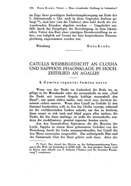 Catulls Werbegedicht An Clodia Und Sapphos