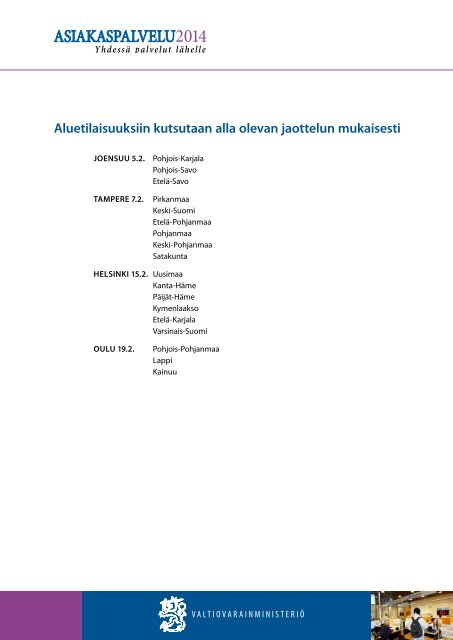 Kutsu ja ohjelma - Valtiovarainministeriö