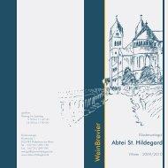 W einbrevier - Abtei St. Hildegard