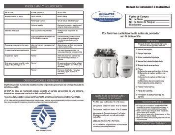 Manual de Instalacion Bajo Tarja R002B-100BA - Biowater.com.mx