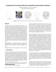 Computing 2D Constrained Delaunay Triangulation Using Graphics ...