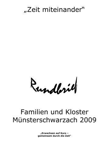 Rundbrief Familien und Kloster 2009 - der Abtei Münsterschwarzach
