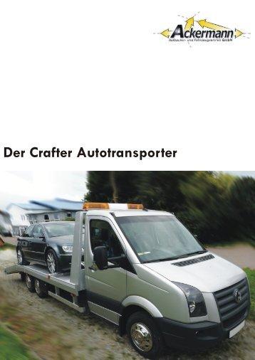 Der Crafter Autotransporter - Ackermann Aufbauten