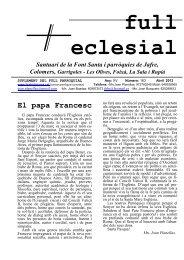 El papa Francesc - Bisbat de Girona