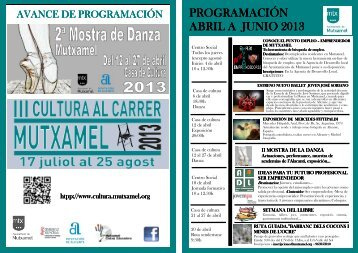 Programación Cultural Abril-Junio 2013 - Mutxamel