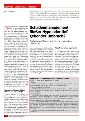 Schadenmanagement: Blo