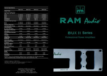 BUX II Series catalogue - RAM Audio