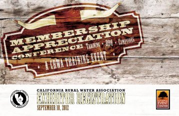 exhibitor registration - California Rural Water Association