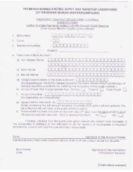 Electronic Clearing System Form - B.E.S.T. Undertaking.