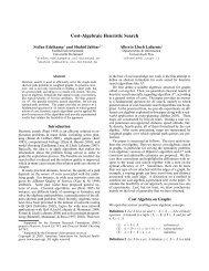 Cost-Algebraic Heuristic Search - Alberto Lluch