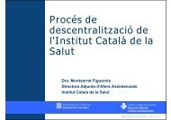 Presentació de la sessió - Consorci de Salut i Social de Catalunya