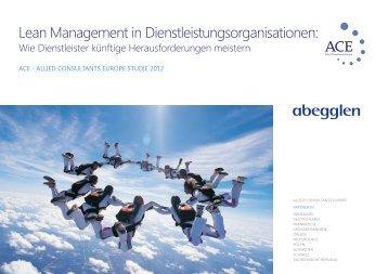 Lean Service Report 2012 - Abegglen Management Partners AG