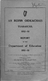 AN. ROINN OIDEACHAIS - Department of Education and Skills