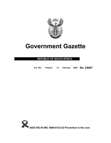 Page 1 - 20 - South Africa Government Online