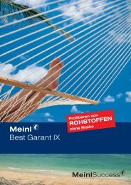 Meinl Best Garant IX - Meinl Success Finanz AG
