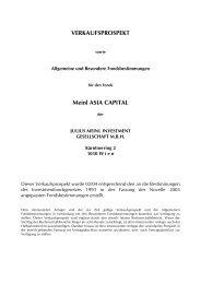 VERKAUFSPROSPEKT Meinl ASIA CAPITAL - Meinl Success ...