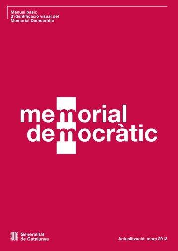 Manual bàsic d'identificació visual del Memorial Democràtic ...