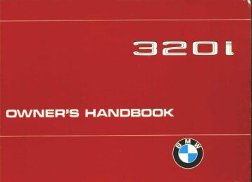 OWN EH'S HANDBOOK - First 3er series bmw e21