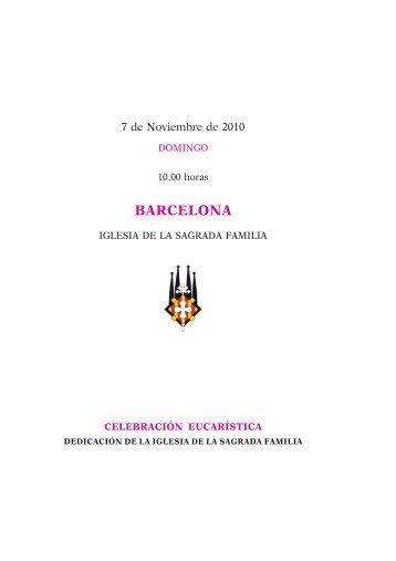 Misal para el viaje apostólico: Barcelona - La Santa Sede