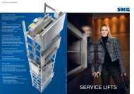 the service lifts brochure as PDF file