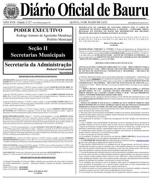 2.127 - Prefeitura Municipal de Bauru