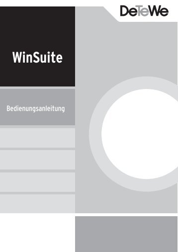 WinSuite DE 30_11_05 - DeTeWe