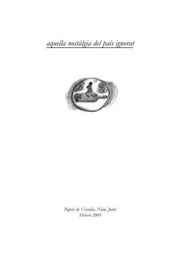 Aquella nostàlgia del país ignorat - Papers de Versàlia