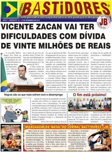 Edição - Jornal Bastidores