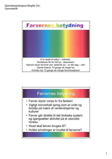 Farvernes betydning.pdf - Birgitte Gammeltoft