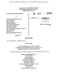 Indictment of Barry Walter Bujol