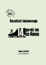 Gorski tek na Nanos 2011 (PDF) - Planinsko društvo Podnanos