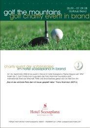 Sponsoring golf charity 2008