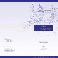 06-0854>weinpreisliste HJ 2006 - Abtei St. Hildegard