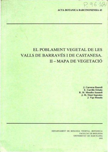 EL POBLAMENT VEGETAL DE LES VALLS DE BARRAVÉS l DE ...