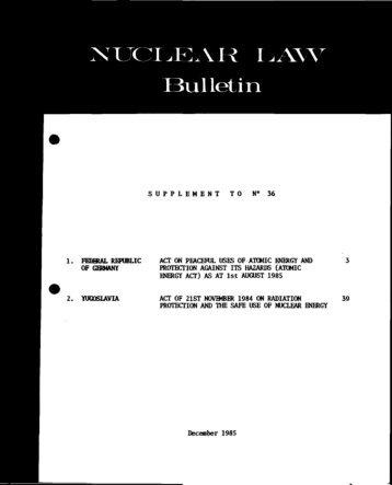 NLB-36-SUP - OECD Nuclear Energy Agency
