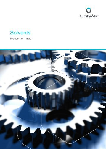 Catalogo Univar Solventi