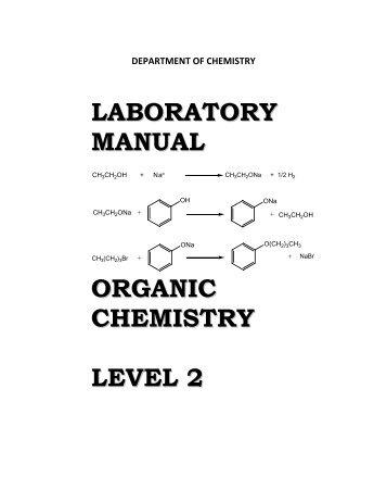 Laboratory manual - Jabatan Kimia UM