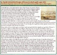 2. Sarki Abdullah Burja ofKano (ruled 1438-1452 AD)