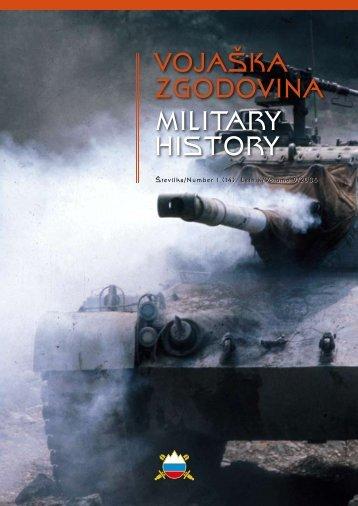 VOJAŠKA ZGODOVINA MILITARY HISTORY - Vojaški muzej
