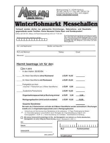 Winterflohmarkt Messehallen interflohmarkt Messehallen - Melan.de
