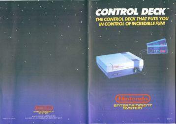 Nintendo NES (Model 1 - 1990) Owners Manual (PDF)