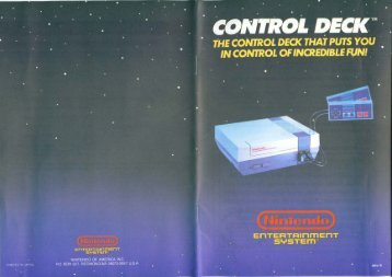 Nintendo NES (Model 1 - 1990) Owners Manual (PDF)