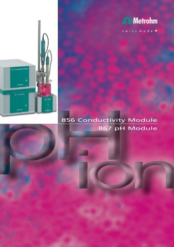 856 Conductivity Module 867 pH Module